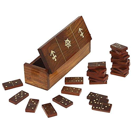 Preisvergleich Produktbild Holz Domino Spiel, Feld-Fach und Stücke, handgemachte Weihnachtsgeschenk; Brettspiel für Erwachsene