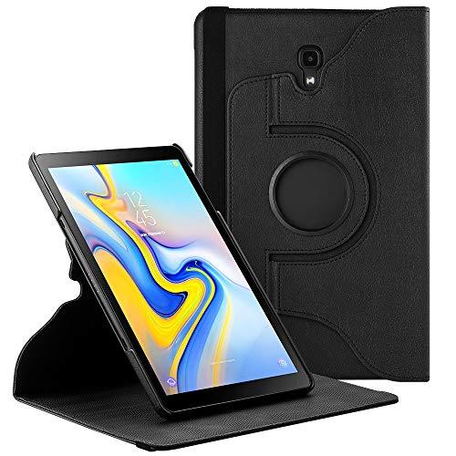 EasyAcc 360 Hülle für Samsung Galaxy Tab A 10.5 SM-T590/ T595, 360 Grad Drehung Schutzhülle Flip Case Book Cover Lederhülle mit Standfunktion/Auto Wake/Sleep - Premium PU Leder (Schawz) Schutzhülle Flip Case