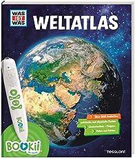 BOOKii WAS IST WAS Weltatlas: Über 1800 Hörerlebnisse und mehr als 80 Karten, Länderlexikon mit Flaggen und Register