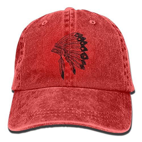 best gift Native American Indian Headdress Unisex Baseball Caps Adjustable Plain Dad Hat Sun Cap