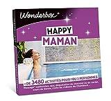 Wonderbox - Coffret cadeau ffête des mères- HAPPY MAMAN - 3 480 activités: massage californien, spa, cours de danse, dégustation de chocolat