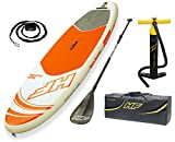 Bestway 65302 - Tabla Paddle Surf Hinchable Hydro-Force Aqua Journey Bestway (274x76x12 cm) con remo de aluminio,  inflador, y bolsa de transporte