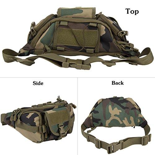 Oleander Taktische Taille Pack Military Fanny Packs Hüftgürtel Tasche Beutel Werkzeug Organizer für Outdoor Wandern Klettern Angeln Jagd Bum Bag Dschungeltarnung