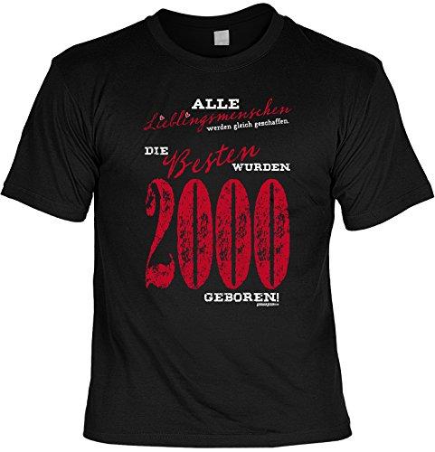 T-Shirt zum Geburtstag - Lieblingsmenschen - Die Besten wurden 2000 geboren! - Geburtstagsgeschenk - Fun shirt - schwarz Schwarz