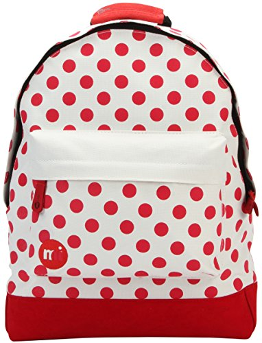Mi-Pac All Polka Backpack Mochila Tipo Casual, 41 cm, 17 Litros, Natural/Red
