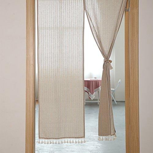 MUZIDP Tenda Mezza,Home Ristorante Tenda della Porta Tenda della Porta Giapponese Fermare Il Vento e la Polvere per Camera da Letto Appartamento Bagno-A 90x180cm(35x71inch)