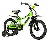 """Kawasaki, Bicicletta KBX 12"""" Bambino, Verde"""