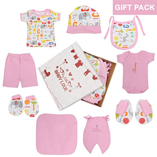db2d00ee5 Kurtzy Baby Dress Gift Set Box New Born Unisex Cotton Clothes 0-6 ...