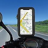 Motorrad Handyhalterung, Solawill Wasserdichte Motorrad Halterungen 360 Drehbar Motorrad Rückspiegel Handyhalter für iPhone X/8 Plus/7, Galaxy S9/S9 Plus etc bis zu 6,2 Zoll Smartphone