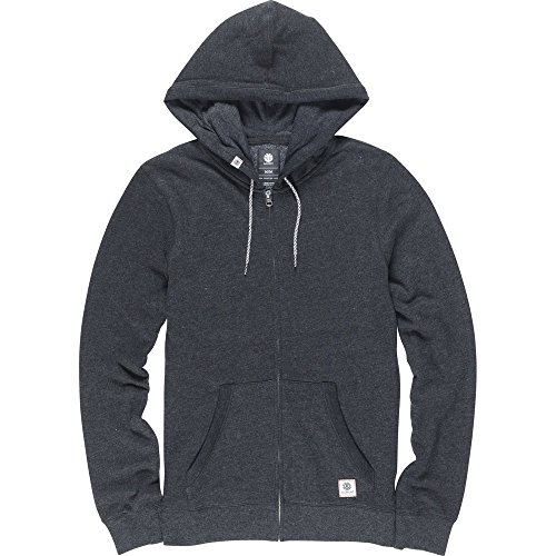 Element Cornell Overdye Zip Hoodie Charcoal
