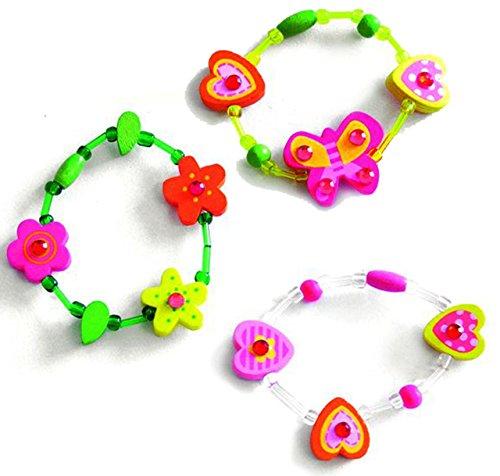 alles-meine.de GmbH 3 Stück _ Armbänder / Kinderarmbänder -  Blumen / Herzen / Schmetterlinge / S..