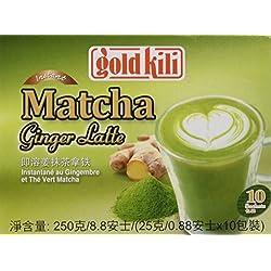 GOLD KILI Instant MATCHA Ginger Latte Getränk [10 x 25g] Ingwer Latte