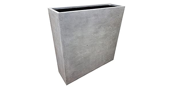 Grau Barriere | Polystone Übertopf 100 x 30 x 100 cm: Amazon.de: Garten