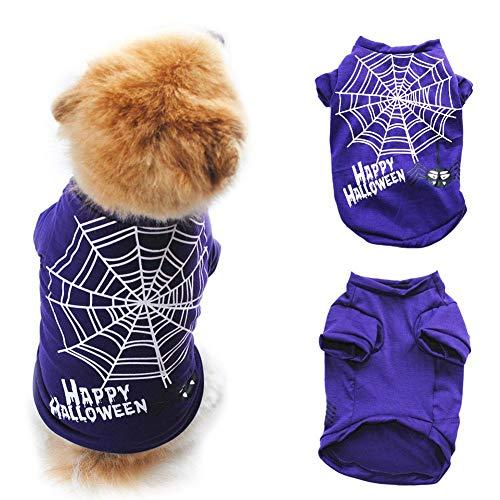 Leezo Halloween Pet Kostüm T-Shirt Kleidung Baumwolle Atmungsaktive -