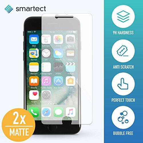 [2x MAT] Protection d'Écran en Verre Trempé pour iPhone 7 Plus / 8 Plus de smartect® | Film Protecteur Ultra-Fin de 0,3mm | Vitre Robuste avec 9H de Dureté et Revêtement Anti-Traces de Doigts