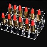 Aolvo liquide Rouge à lèvres support organiseur Coque clair 24emplacements Acrylique Vernis à ongles doigt de support organiseur de maquillage Boîte de présentation pour vernis à ongles, Rouge à lèvres, pinceaux, bouteilles