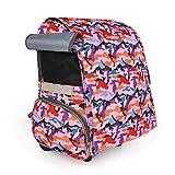 DHMHJH Pet grande carrello a quattro ruote per auto, borsa da viaggio portatile per cani (Colore : Pink)