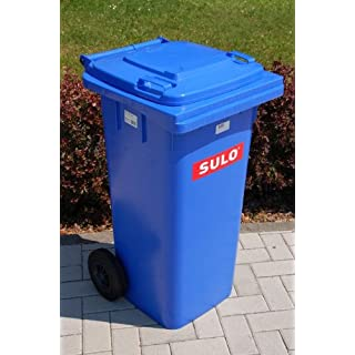 Müllbehälter, Inhalt 120 Liter, blau