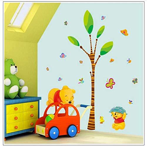 GHUJFDB Niedlichen Cartoon Winnie The Pooh Bär Baum Wohnkultur Für Kinderzimmer Dekoration Wandaufkleber Kindergarten Tiere Aufkleber Aufkleber (Pooh-der-bär-wand-dekor)