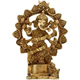 Ganesh Figurine Ornaments Idol Hindu Brass Sculpture Indian Décor 15.24 cm
