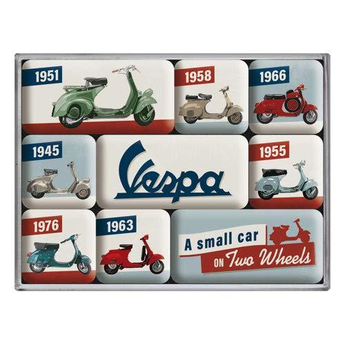Nostalgic-Art 83110 Vespa - Model Chart   Retro Magnet-Set (9teilig)   Kühlschrank-Magnete   Vintage