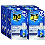 All Out Ultra Power Plus Fan Refill Set (Blue, Pack of 4)