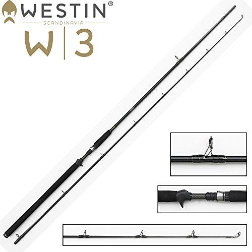 Westin W3 Powercast-T 251cm 3XH 60-180g, Spinnrute mit Triggergriff für Multirolle, Angelrute für Hecht, Zander & Waller, Rute für Wobbler, Gummifische & Jerkbaits