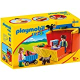 Playmobil 9123 1.2.3 Take Along Market Stall with Carry Handle and Shape Sorting Function