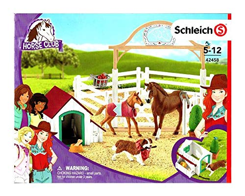 Schleich Horse Club 42458 Hannahs Gastpferde mit Hündin Ruby - 2019 (Baby Horse Games)