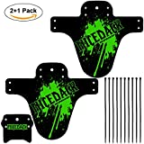 Nicedack Bicycle Fender – 2 + 1PCS parafanghi MTB parafanghi...