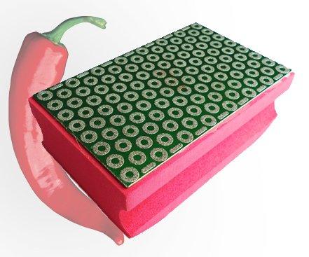 ChilliCut ChilliPad K200 Handpad Schleifpad Handschleifpad Schleifklotz Diapad Schleifschwamm für Fliesen Feinsteinzeug Glas Handschleifklotz Diamantschleifstein