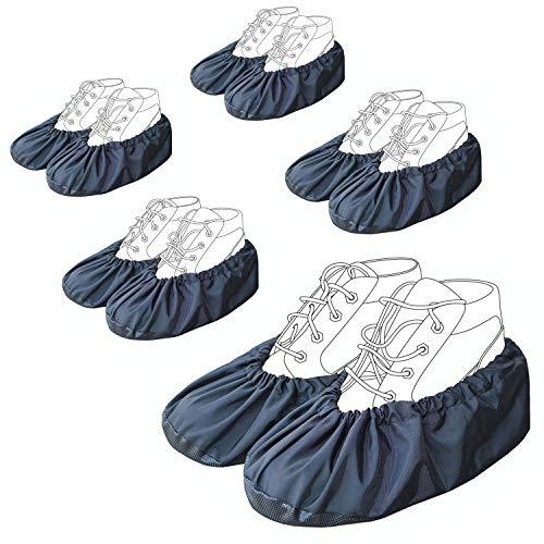 youtu Antislip Anti-Rutsch Schuhüberzieher,überschuhe überzieher Schuhüberzieher Shoe Cover Hülle,wiederverwendbar überschuhe Staubfrei,Für die meisten Erwachsenen, Unisex - schwarz -
