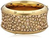 DKNY Damen-Ring Edelstahl Glaskristall gold Gr.56 (17.8) NJ2019040-8