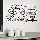 Vente chaude Boulangerie Stickers Muraux Vinyle Amovible Décor À La Maison Chef...
