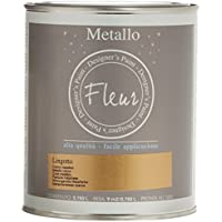 Fleur Paint 13240 - Pintura mineral metalizada (base agua, 750 ml) color lingotto