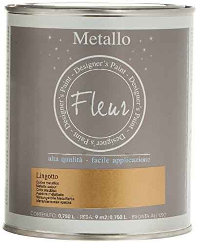 Fleur Paint 13240 - Pintura mineral metalizada (base agua, 750 ml) col