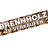 Brennholzverkauf Brennholz Kaminholz zu verkaufen Spannbanner/Banner / Werbebanner 2 x 0,5 Meter Plakat
