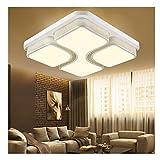 MCTECH LED 36W plafonnier de salon chambre Cuisine moderne lampes blanc chaud blanc Acrylique conception creuse 430x430x130mm