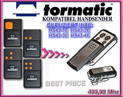 Preisvergleich Produktbild TORMATIC HS43-1E,  HS43-2E,  HS43-3E,  HS43-4E kompatibel handsender,  klone fernbedienung,  4-kanal 433, 92Mhz fixed code. Top Qualität Kopiergerät!!!