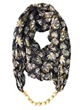 Vershaa Women's Necklace Scarf Abstract Printed (Multicolor Polycotton   100 x 180 cm)