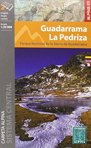 Guadarrama-La Pedriza. 2 mapas excursionistas. Escala 1:25.000. Editorial Alpina. Español, Française, English. por VV.AA.