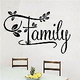 Bomeautify Kreative englische Familie Wandaufkleber Romantik Wohnzimmer Schlafzimmer Wand Dekor Aufkleber 57 * 37CM