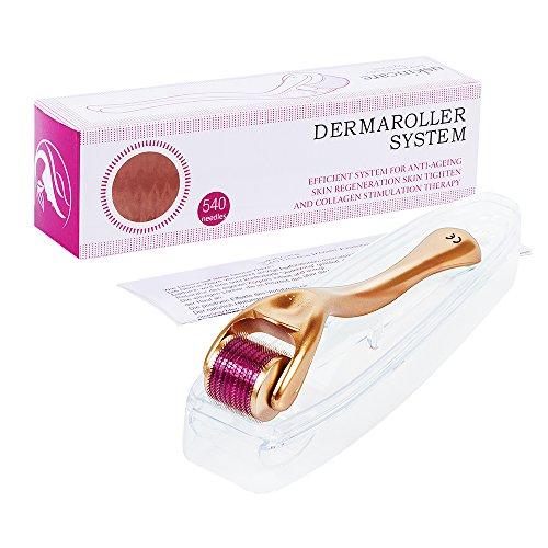Dermaroller 1.0mm+kostenlsoes Nutzerhandbuch für Haut-Behandlung, effektiv gegen Akne, Falten, Dehnungsstreifen, Haarverlust, Narben und Hyper-Pigmentierun