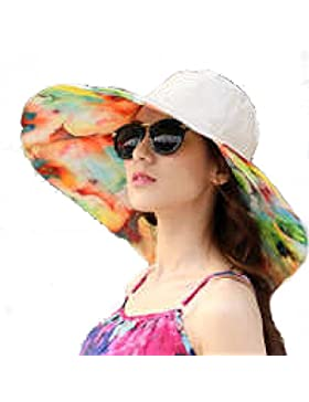 Algodón Sombrero Señora Verano Sombrero Del Sol Plegable Al Aire Libre Sombrero De Playa De La Playa Viajes Sol...