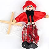 Childrens Educational Toys Cute Clown Puppet Doll Toy(Red)