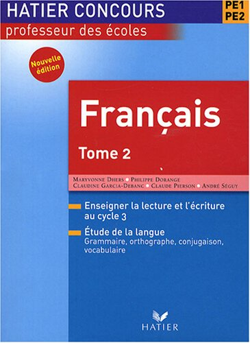 francais-pe1-pe2-tome-2
