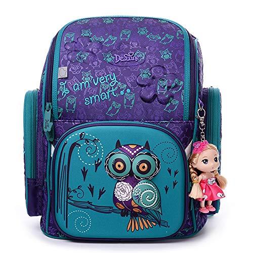 Ergonomischer Schulranzen Mädchen 1-4.Klasse mit Babypuppe,Schulranzen Mädchen,Rucksack School Kinderrucksäcke,Geschenke für Mädchen,Schultasche für Mädchen