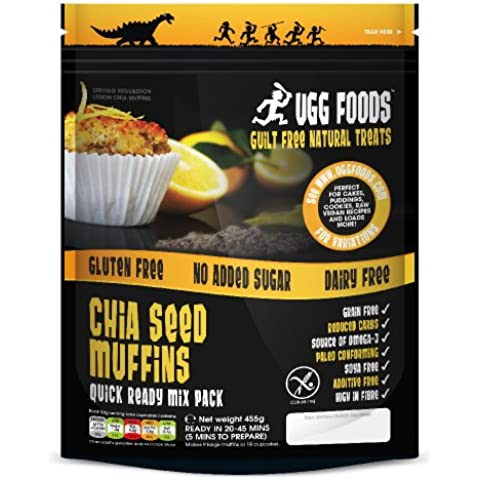 Ugg Foods - Lemon Chia Muffin Mix - 455g (Case of 8)