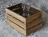 das Original-BestLoft Couchtisch Beistelltisch (eine Kiste + Glas)