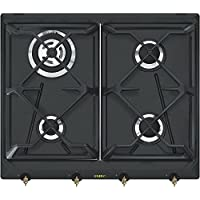 Smeg SRV864AOGH Integrado Encimera de gas Antracita hobs - Placa (Integrado, Encimera de gas, Antracita, Esmaltado, 1100 W, Alrededor)